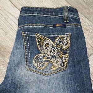 Seven 7 Jean's denim pockets front and back